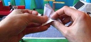 Fold a fun intermediate origami cat