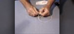 Do the cut and restored string trick