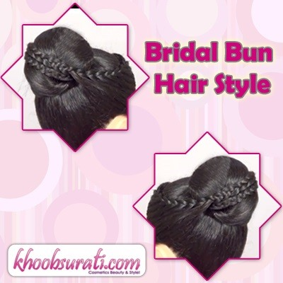 How to Bridal Bun Hair Style