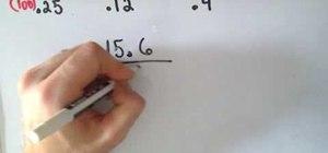 Divide decimals