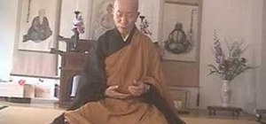 Practice sitting for zazen meditation in Buddhism