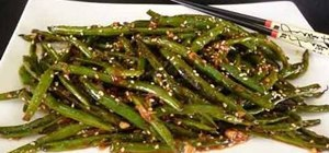 Make Indo Chinese szechuan green beans
