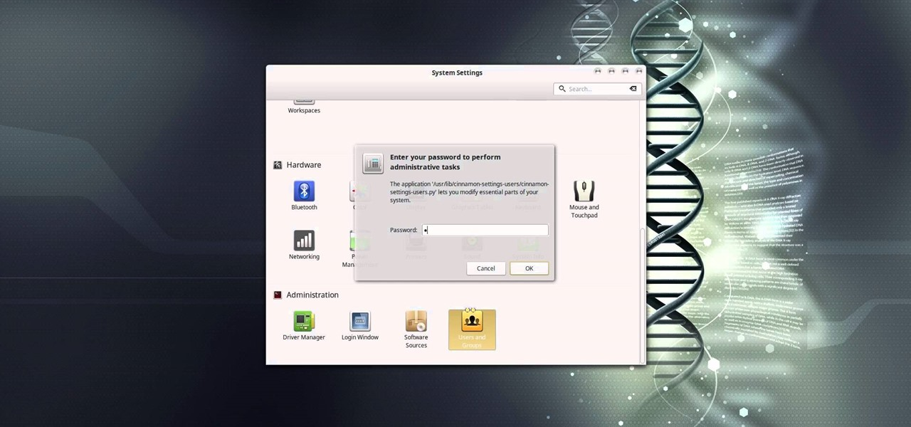 Remove a Password from Log in Screen in Linux Mint