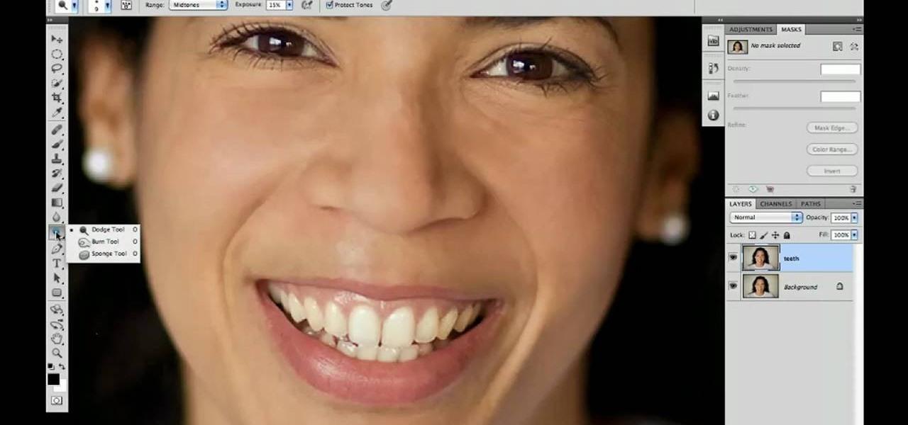 How to Whiten teeth with Photoshop CS5's Dodge & Sponge ...