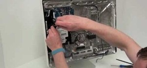 Remove the hard disk drive (HDD) from a G5 iMac