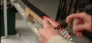 Apply hard wax to cross-country skis