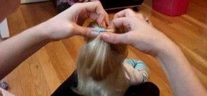 Do a cute hairstyle on American Girl with medium hair