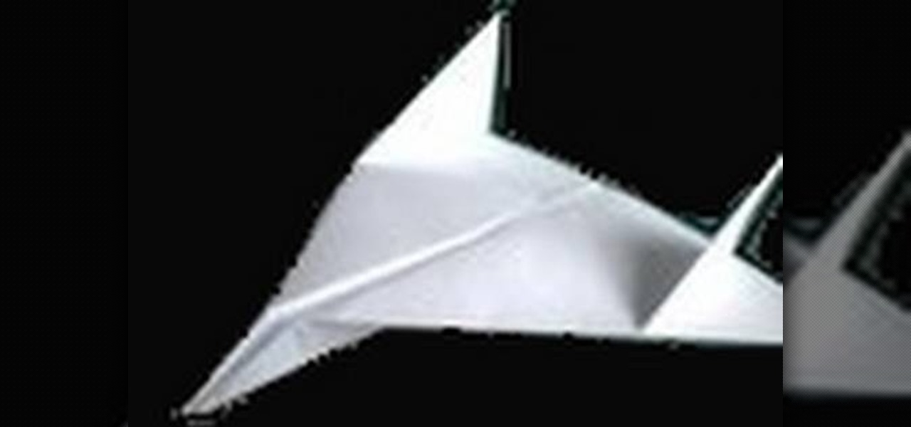 how to fold an easy and quick origami warplane jet