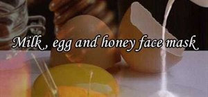 Make an anti-aging milk, honey & egg facial mask