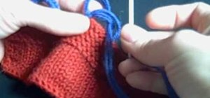 Knit a button loop