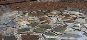 Lay a flagstone patio
