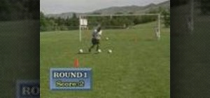 Practice Around the Cone Shooting game for soccer