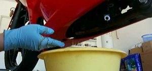 Change your oil on a 2008 Kawasaki Ninja 250R