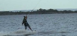 Pull  a railey to wrapped  kiteboarding trick