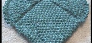 Crochet a left handed magic heart potholder