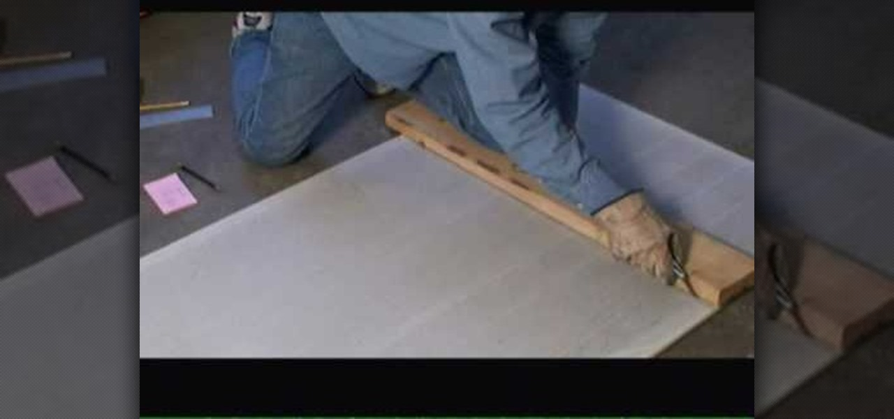 Cutting Cement Board : How to cut cement backer board « construction repair