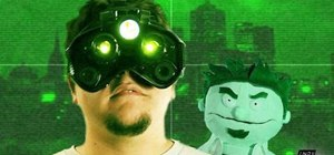 Make a military-style night vision goggles prop