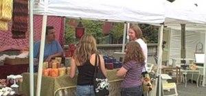 Approach a girl at a street fair