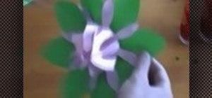 Make a 3D paper flower
