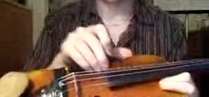 Play violin for the beginner