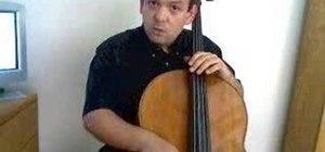 Create a sound on the cello