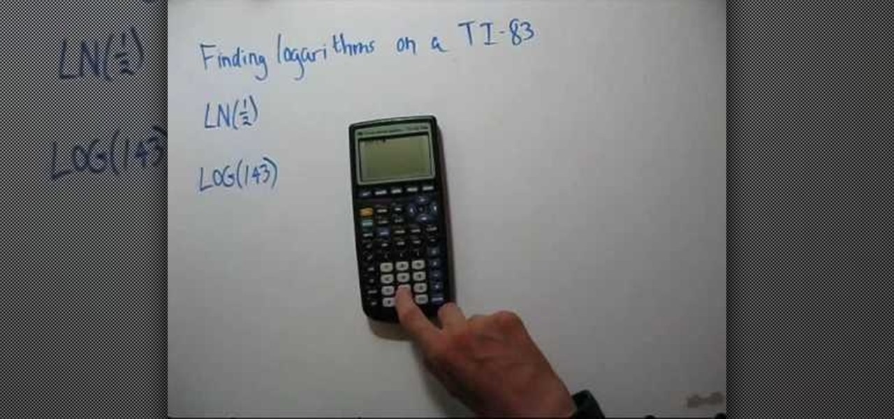 How to find intercepts on a calculator ti 83 math wonderhowto how to evaluate logarithms using a calculator ti 83 ccuart Gallery