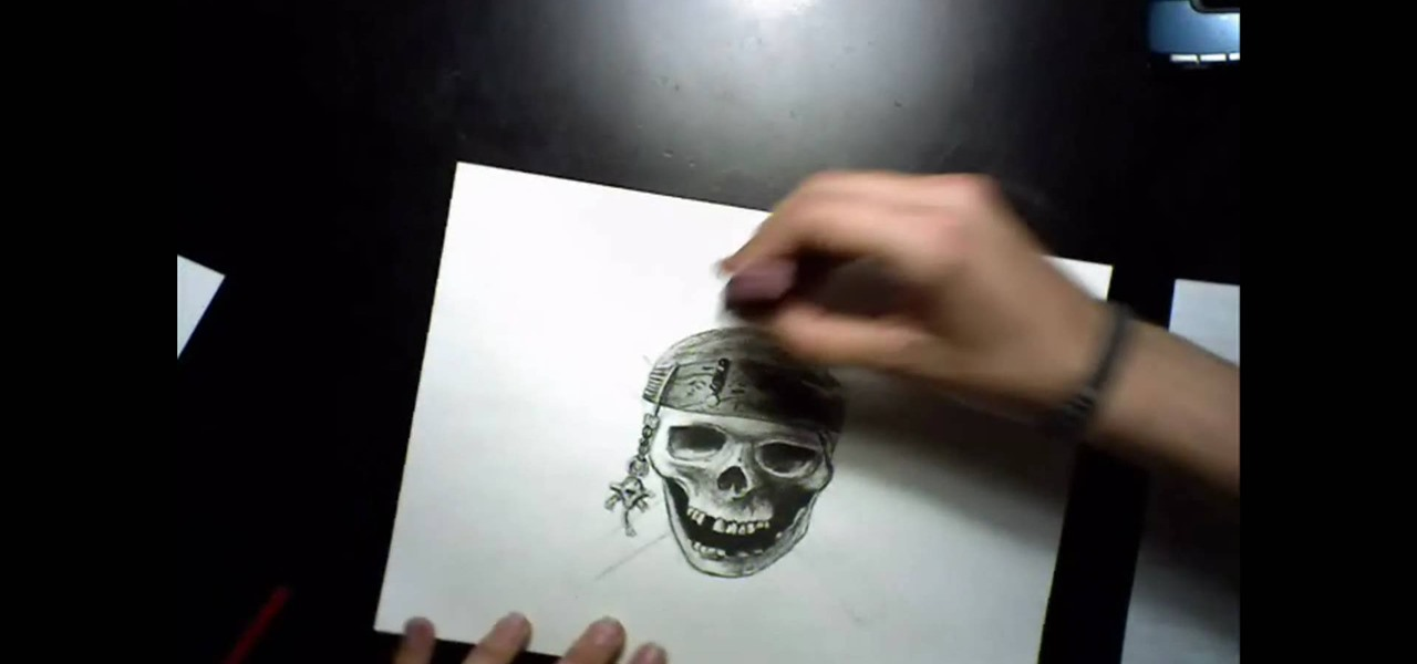 how to draw a vector pirate skull