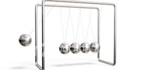 Newton's Cradle (Silver Balls)