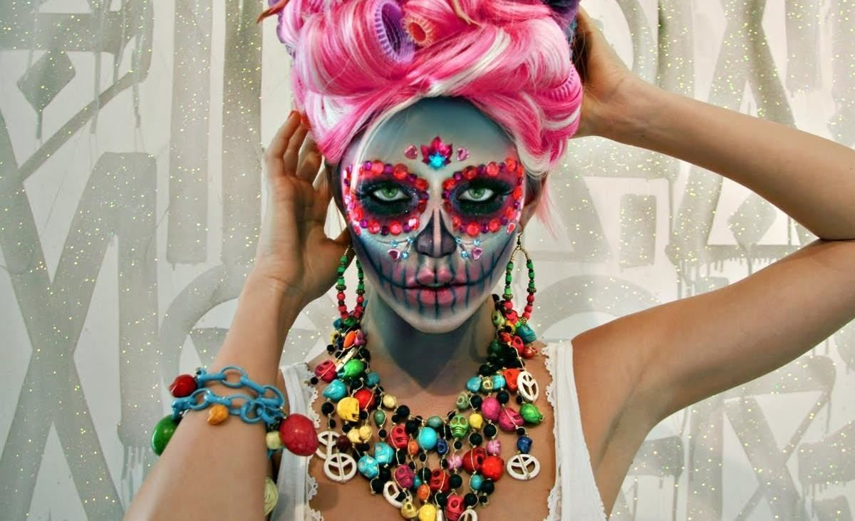 The 15 Best Sugar Skull Makeup Looks for Halloween