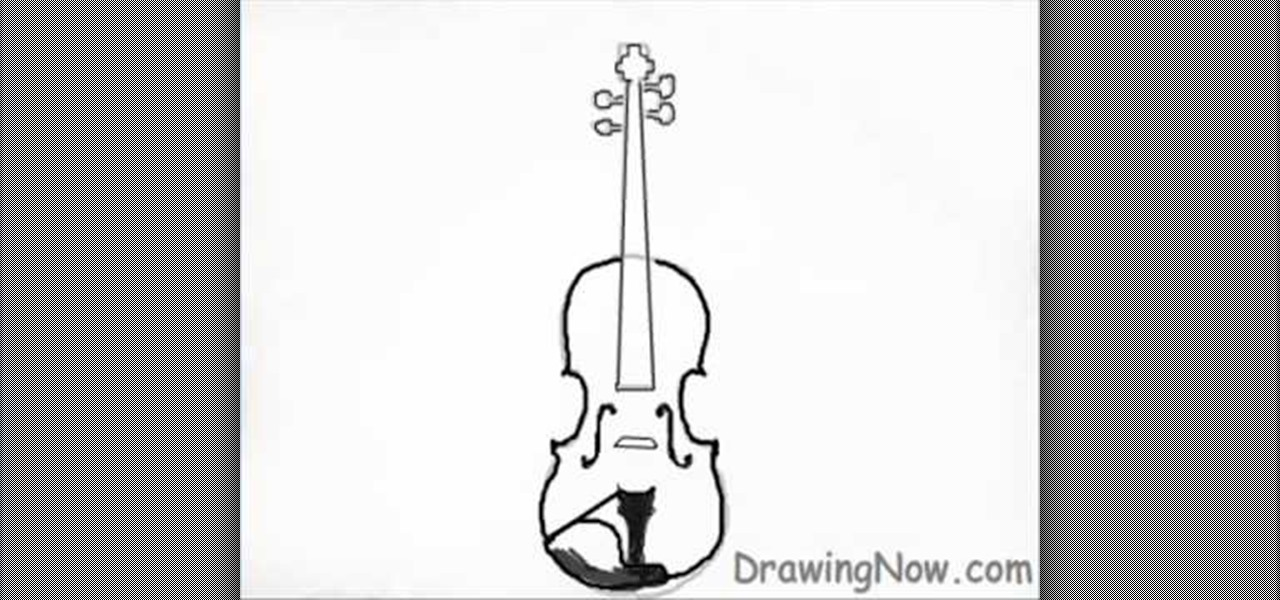 how to draw a violin 171 drawing amp illustration wonderhowto
