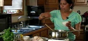 Cook chicken curry