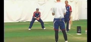 Practice cricket fielding