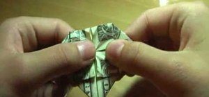 Make an origami dollar heart