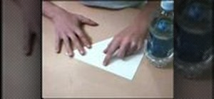 Make claws from folded paper with origami