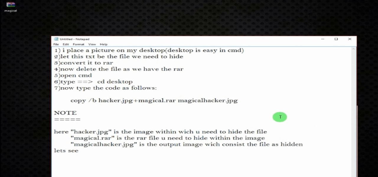 How to HIDE a FILE in an IMAGE Using CMD « Null Byte