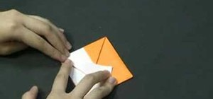 Origami a fox puppet