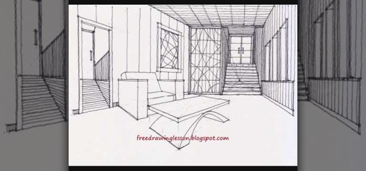 how to draw a room with stairways using complex levels drawing illustration wonderhowto. Black Bedroom Furniture Sets. Home Design Ideas