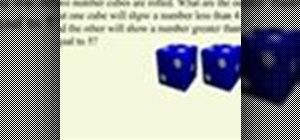 Solve a math probablity problem with two dice
