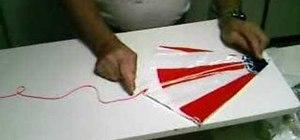 Fold a model rocket parachute