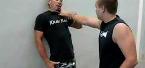 Do a Krav Maga knife to throat defense