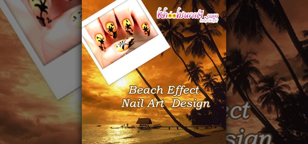 Do Beach Effect Nail Art Design