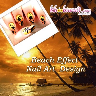 How to Do Beach Effect Nail Art Design