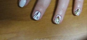 Paint palm tree nails