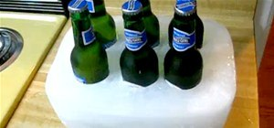 Make a Frozen Solid Ice Beer Caddy