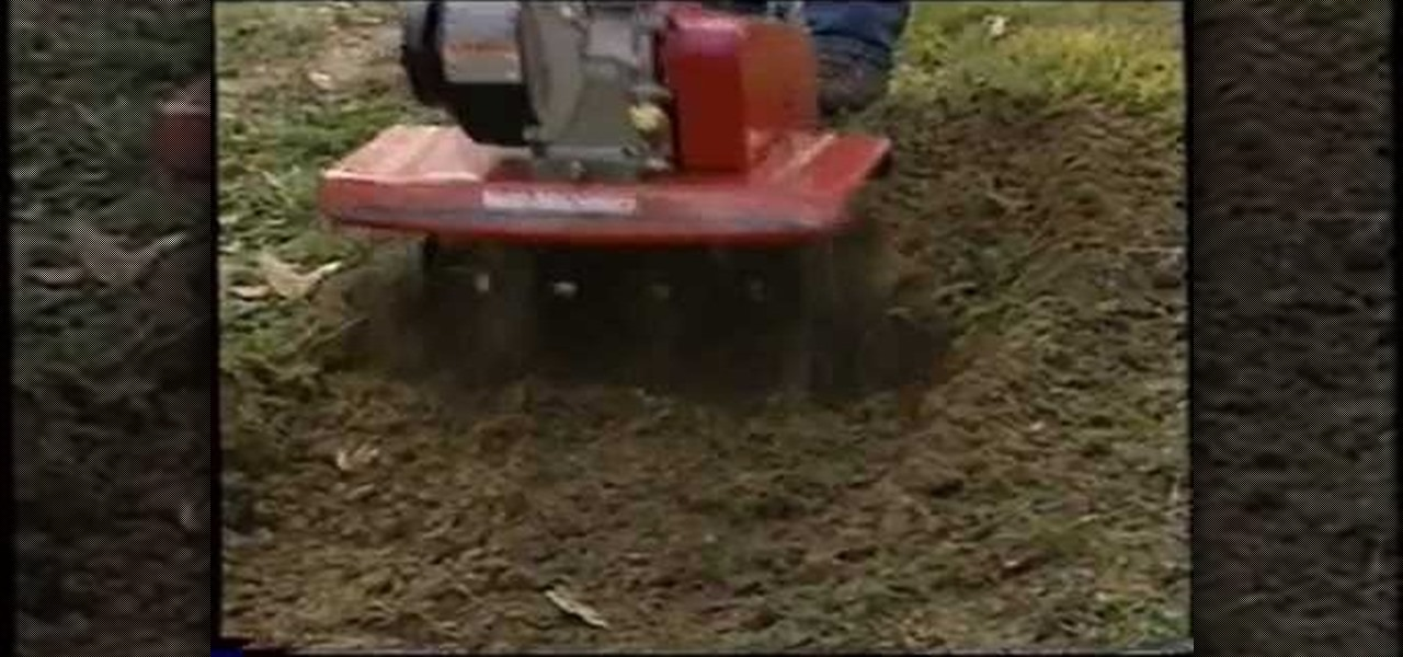 how to use a rototiller to level a yard home appliances
