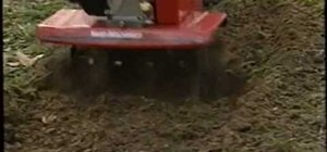 Use a rototiller to level a yard