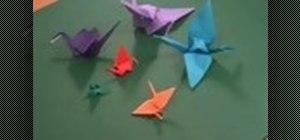 Origami a Japanese Orizuru crane