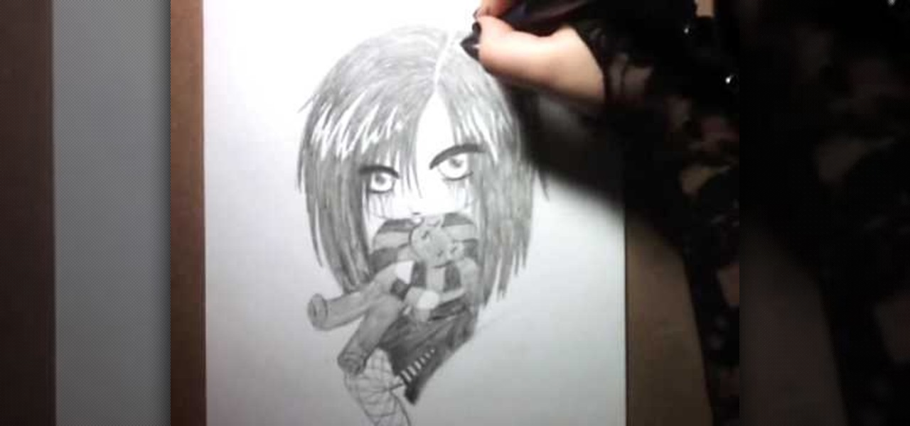 Emo Alone Drawings How to Draw an Emo Angel Chibi