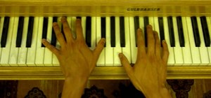 "Play ""Airplanes"" by B.O.B. on the piano"