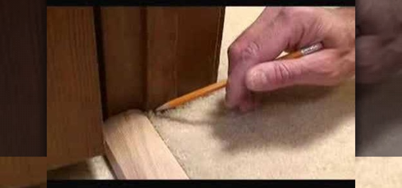 how to install carpet transition trim between vinyl u0026 carpet interior design wonderhowto